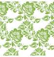greenery floral leaves seamless pattern background vector image