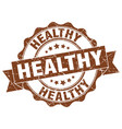 Healthy stamp sign seal vector image