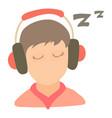 little boy sleeping icon cartoon style vector image