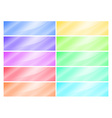 multicolored glossy rectangular banner vector image