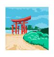 Torii Japanese Gate WPA vector image