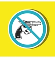 weapons ban design vector image