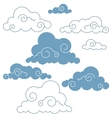 collection of clouds vector image vector image