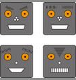 set of four robots vector image