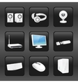 Computer and accessories icons vector image