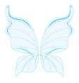 Blue fairy wings vector image
