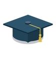Black graduation cap design vector image