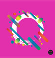 design colorful circles elements template frame vector image