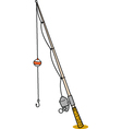 Fishing rod vector image