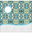 geometric tribal pattern with place for your text vector image