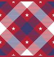 patriotic tartan seamless patterns vector image