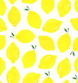 Pattern with lemons vector image
