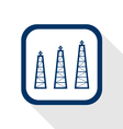 petrol oil rigs production flat design icon long vector image