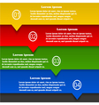Set of abstract banners infographics web design vector image