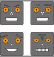 set of four robots vector image