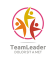 teamleader guidance human colorful design vector image