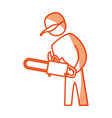 worker carpenter silhouette vector image