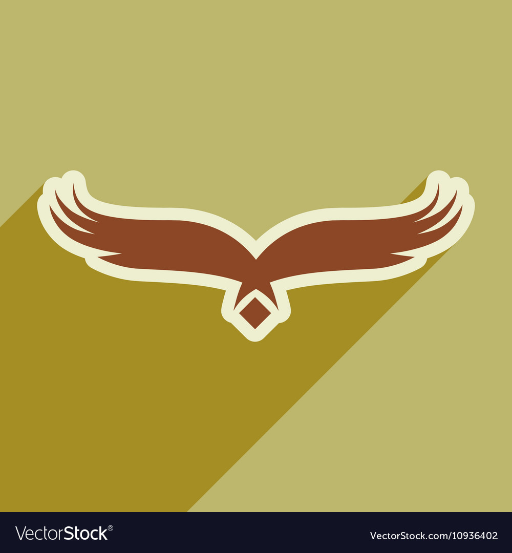 Stylish silhouette eagle logo vector