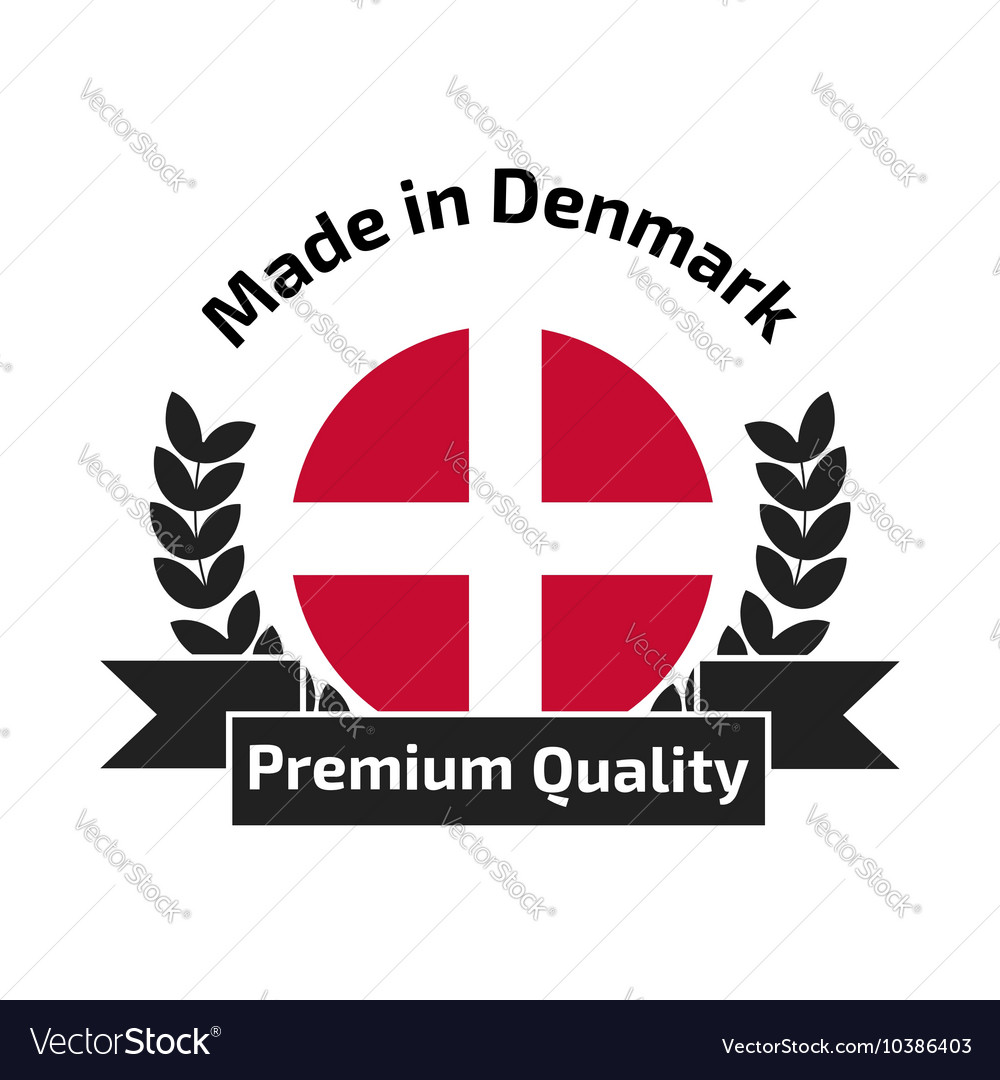 Made in denmark labe vector