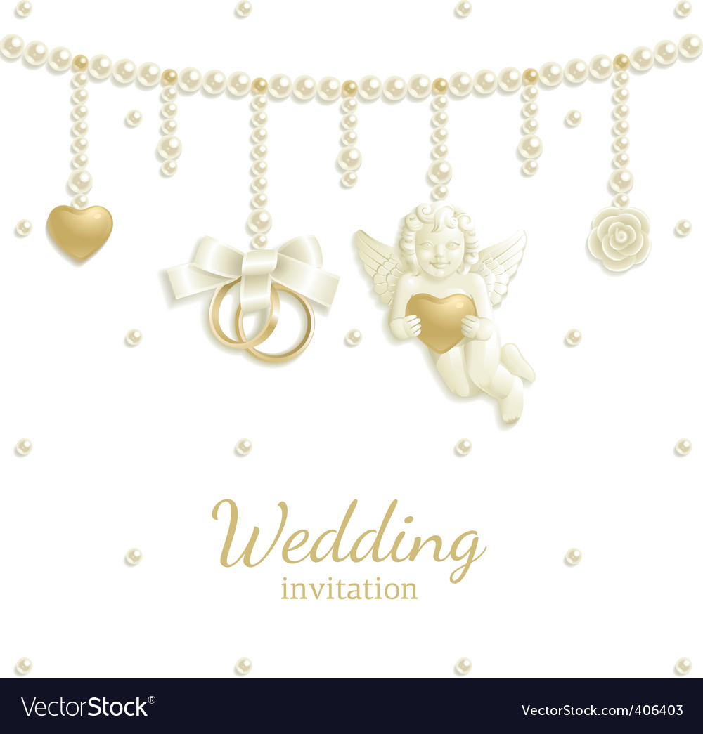 Wedding jewel vector