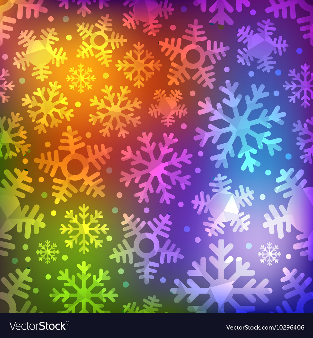 Different blue snowflakes set abstract seamless vector