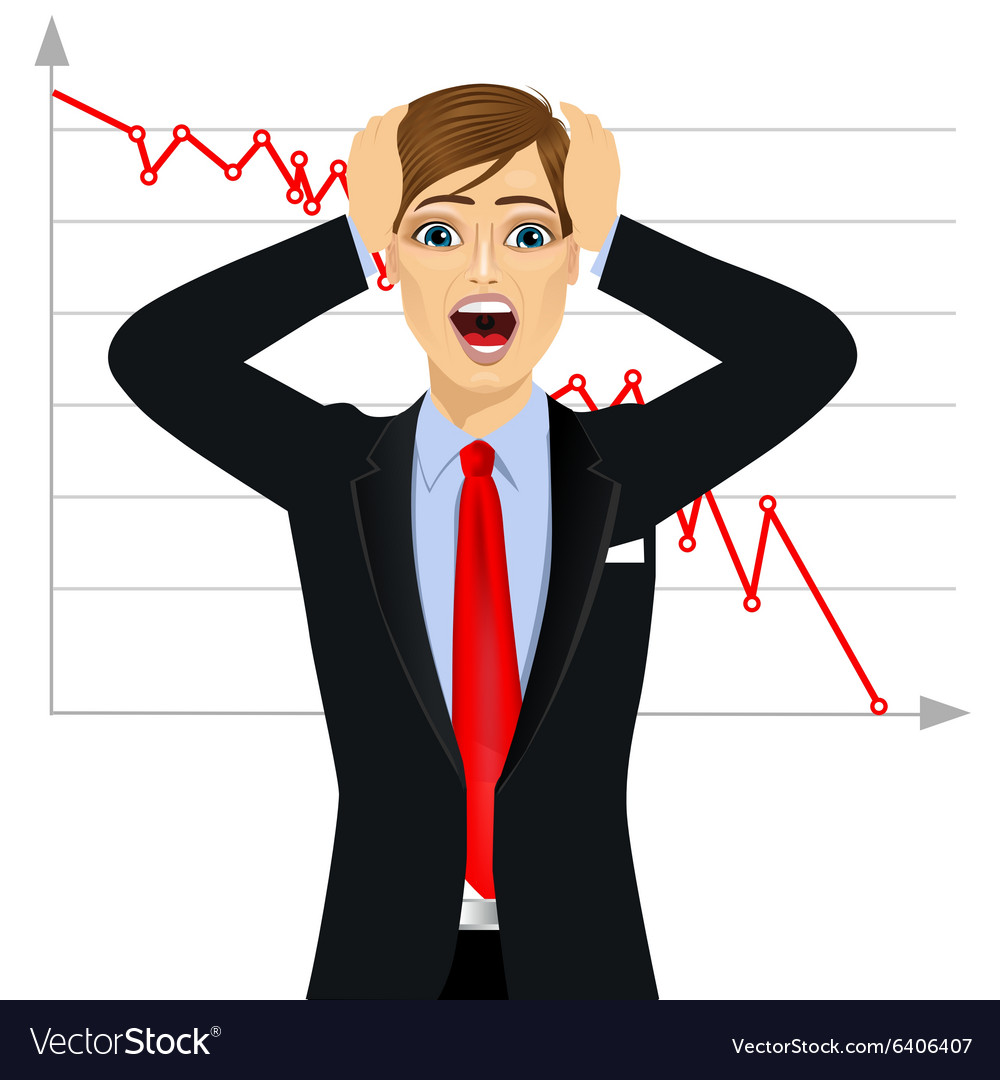 Businessman screaming mouth open vector