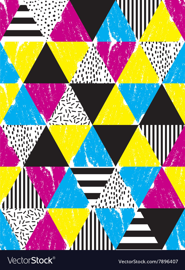 Seamless geometric doodle pattern vector
