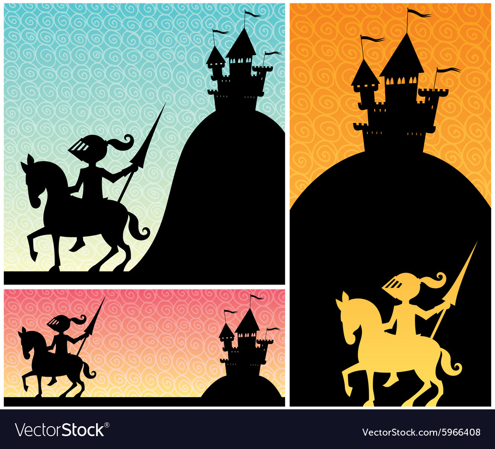 Knight backgrounds vector