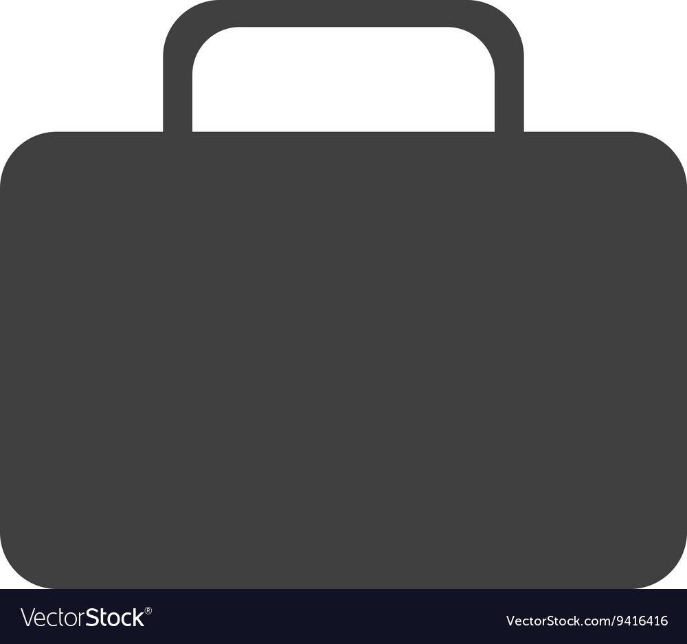 Black suitcase front view graphic vector