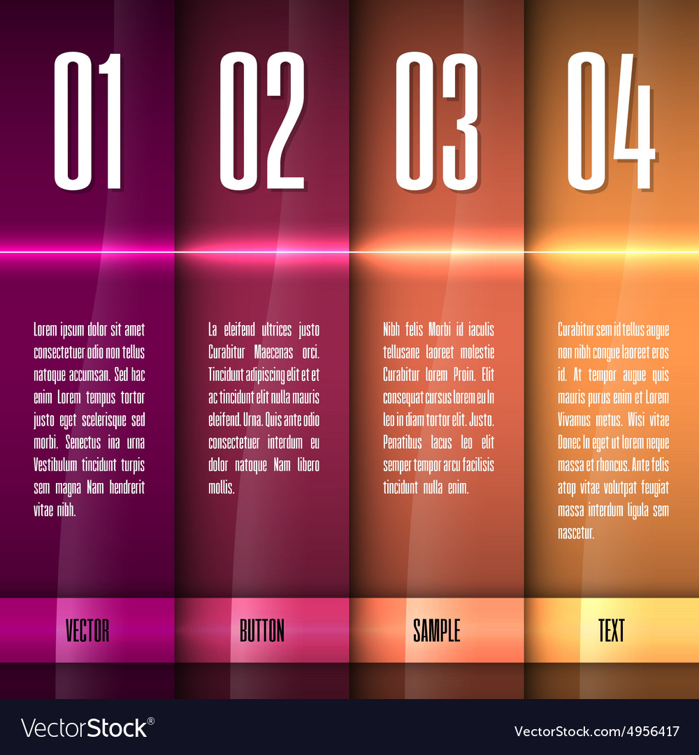 Glossy layout vector