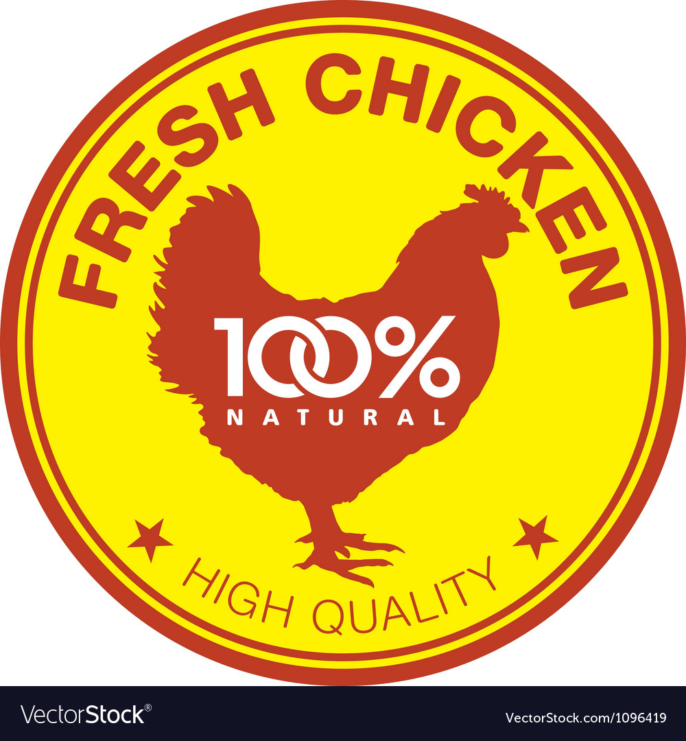 Fresh chicken label vector