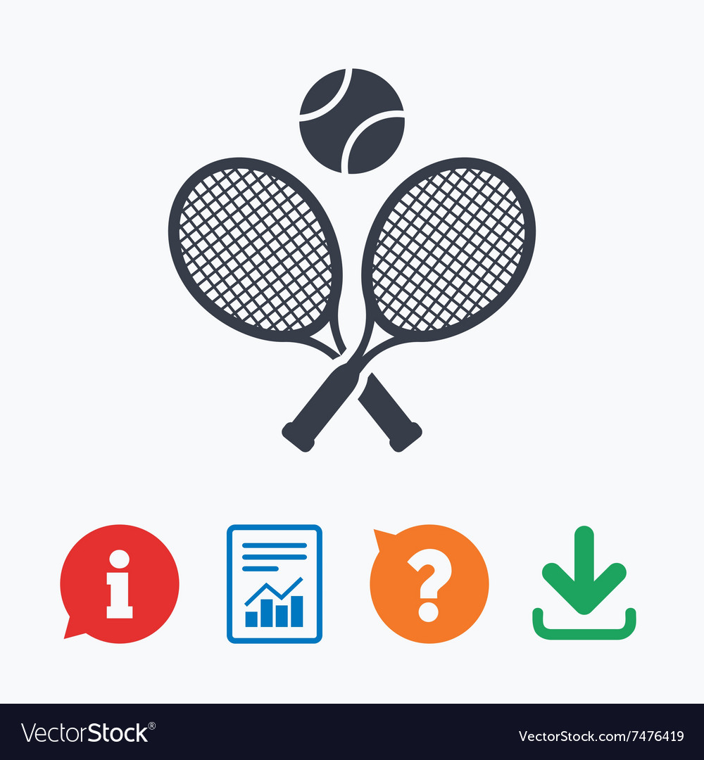 Tennis rackets with ball sign icon sport symbol vector