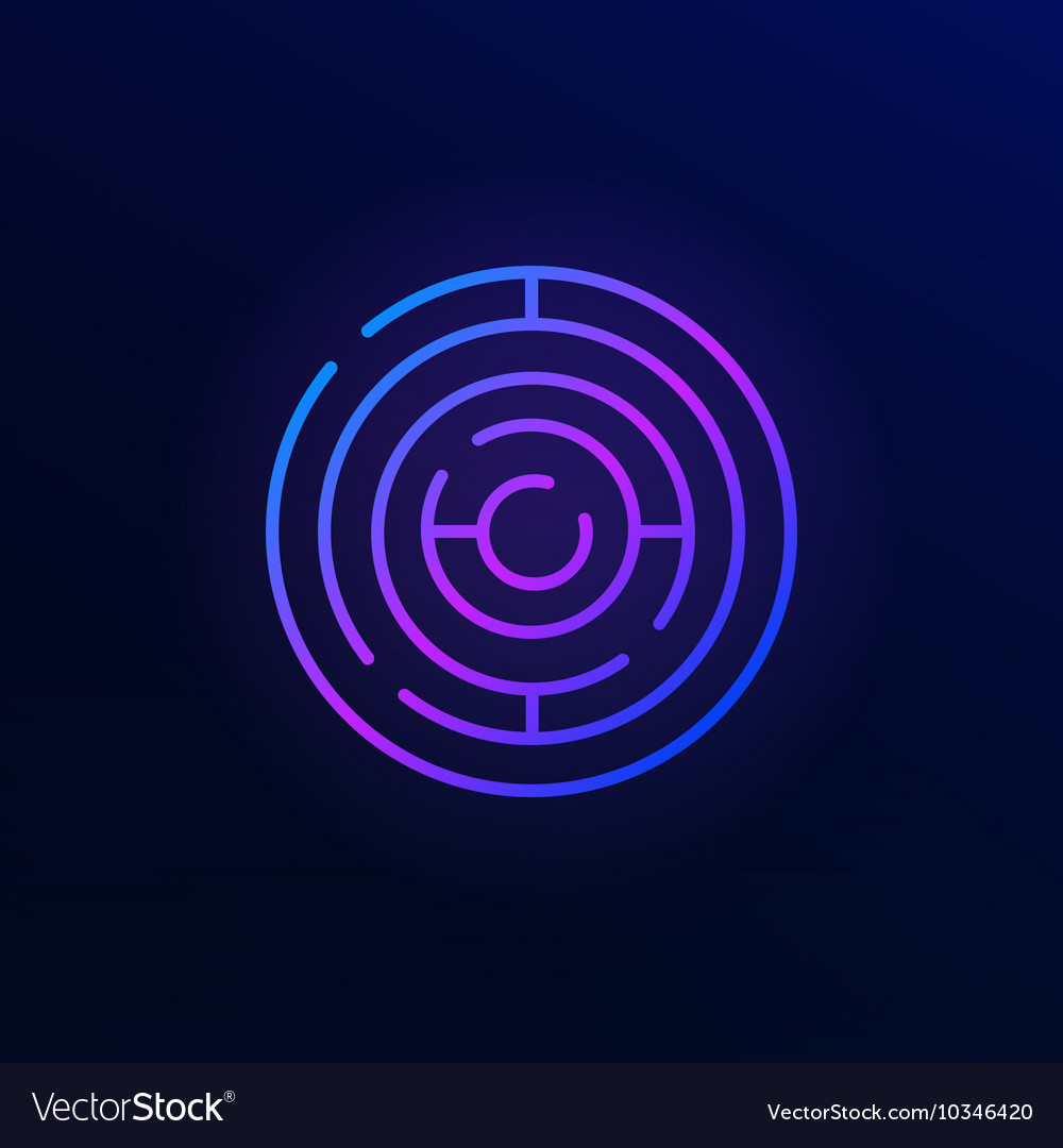 Round maze colorful icon vector