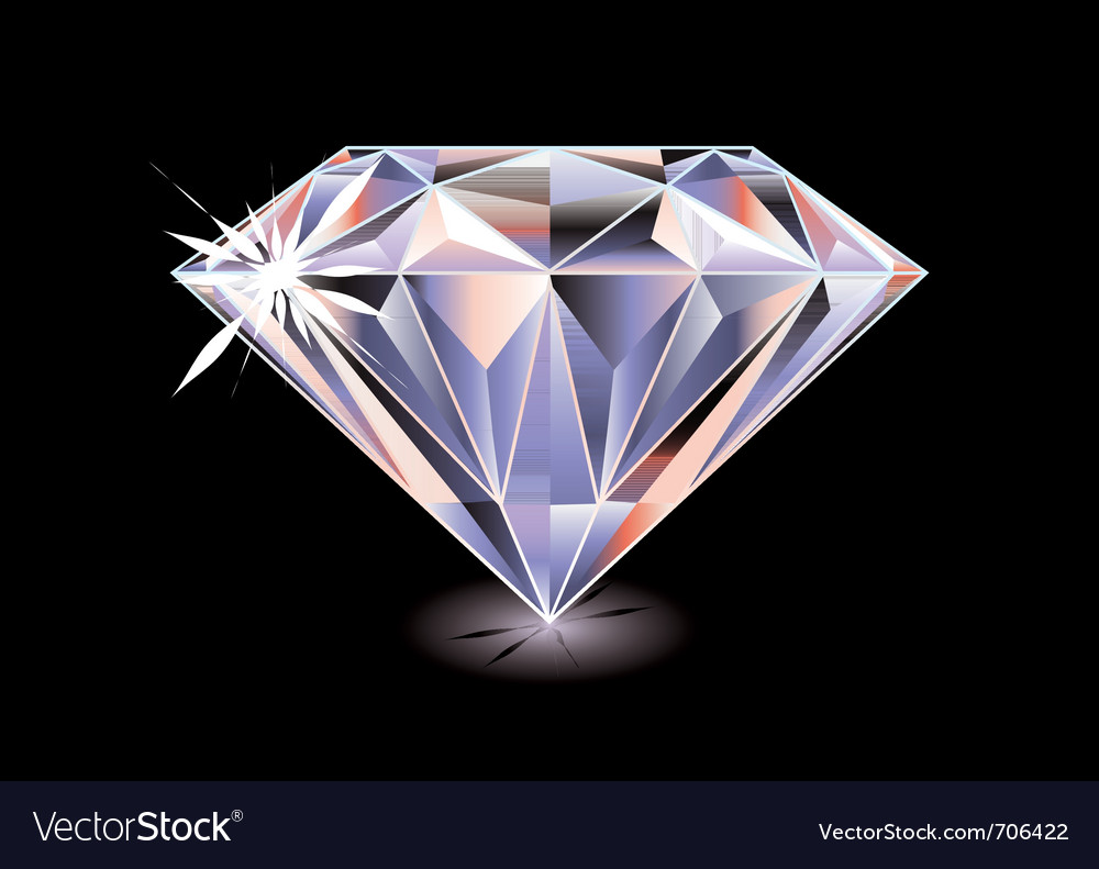 Cut diamond vector