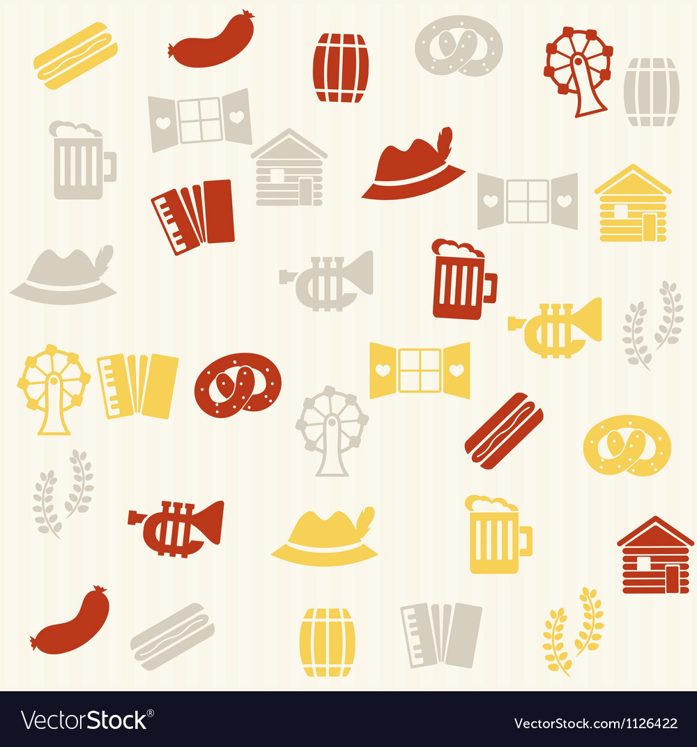 German seamless pattern vector