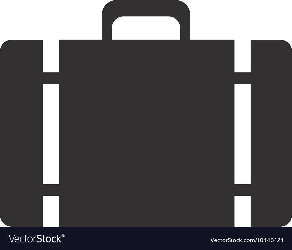 Suitcase baggage luggage design vector