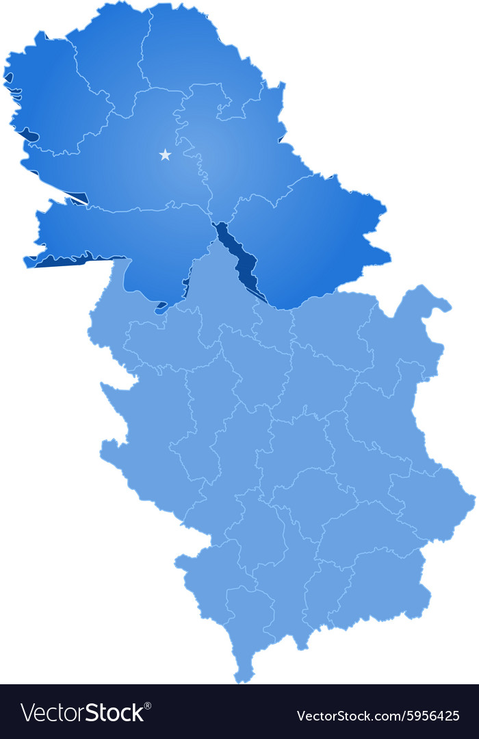 Map of serbia autonomous province of vojvodina vector