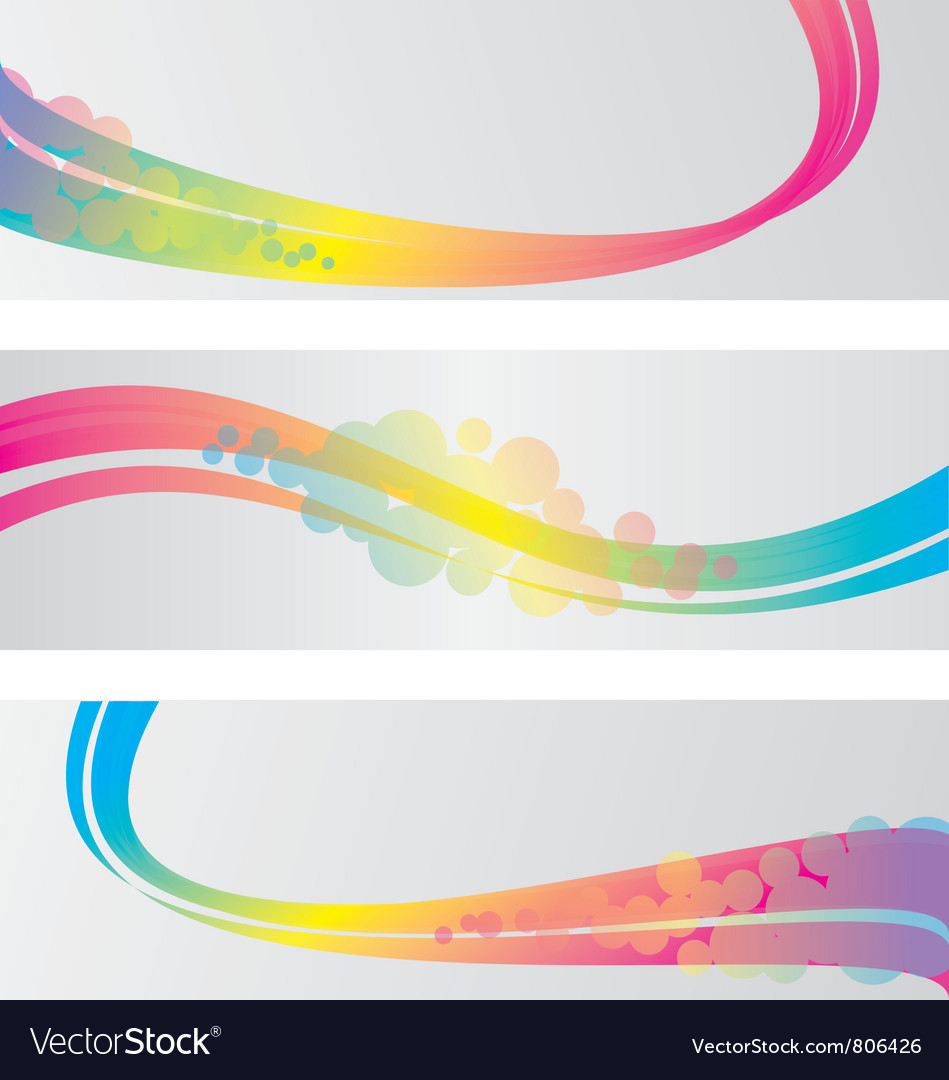 Three abstract banners vector