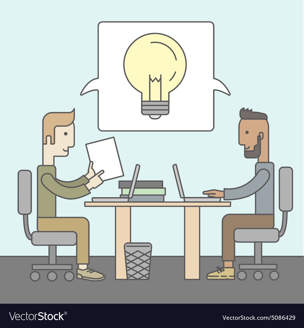 Business brainstorming vector