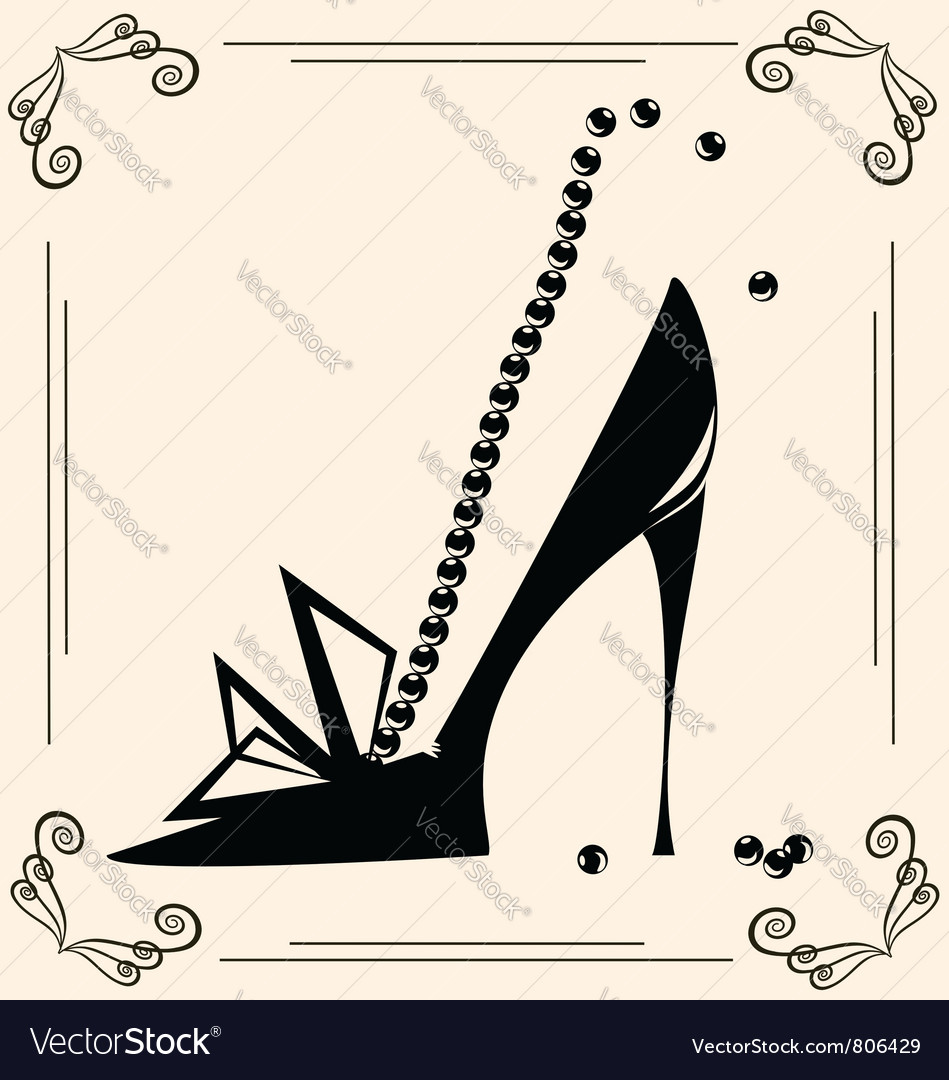 Vintage womans shoe vector
