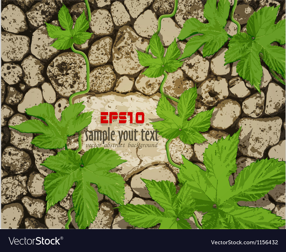 Background with stonework vector