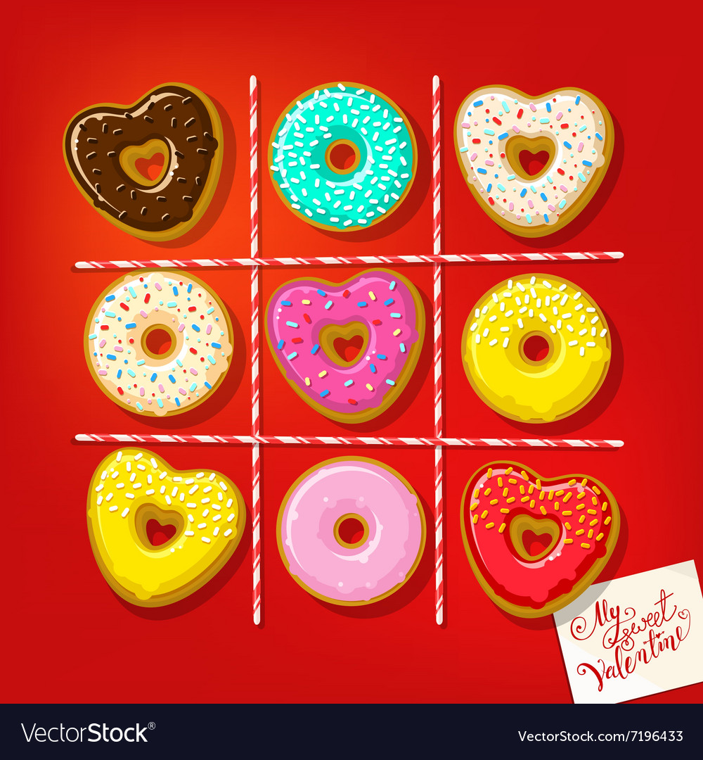 Different sweet donuts vector
