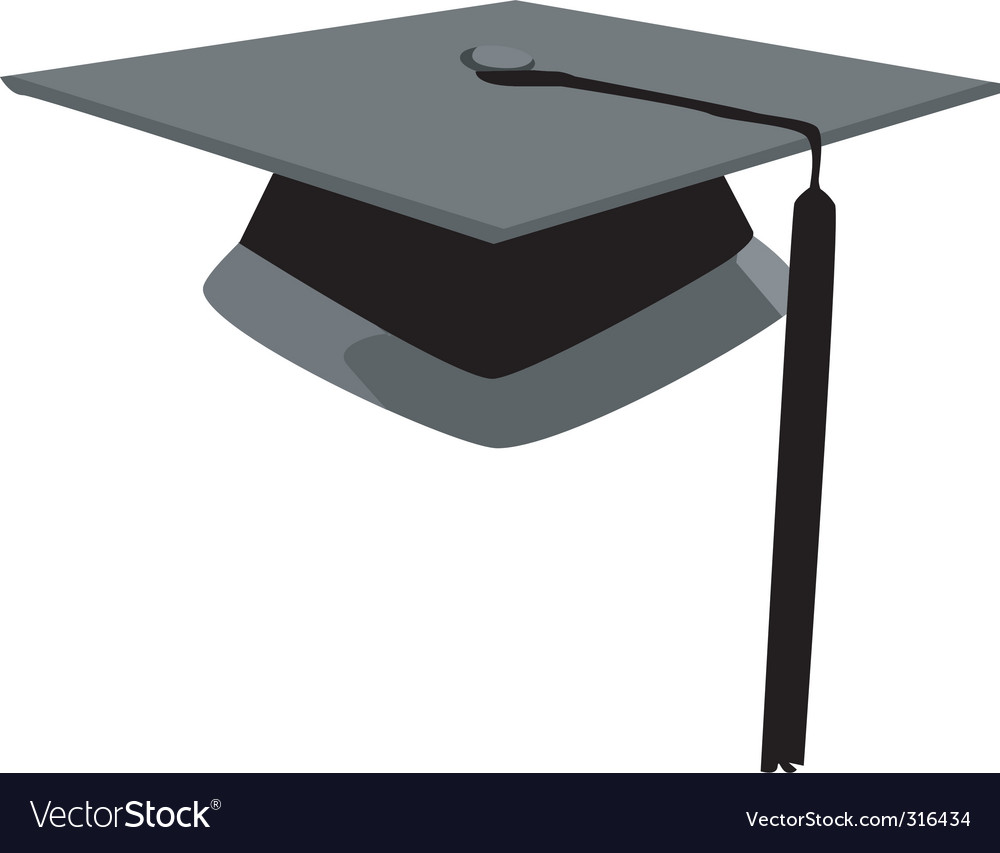 Graduation hat vector
