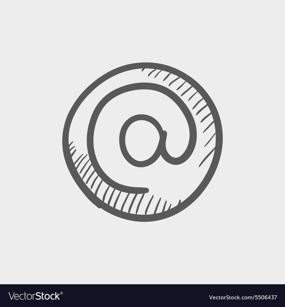 Email internet sketch icon vector