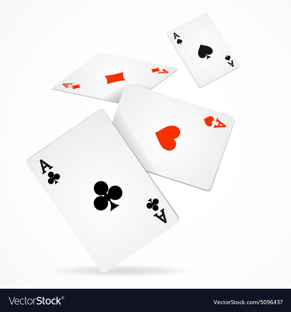 Playing poker cards poster vector