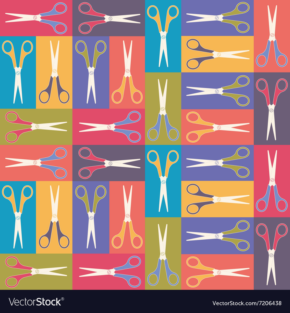 Scissors pattern 1 vector