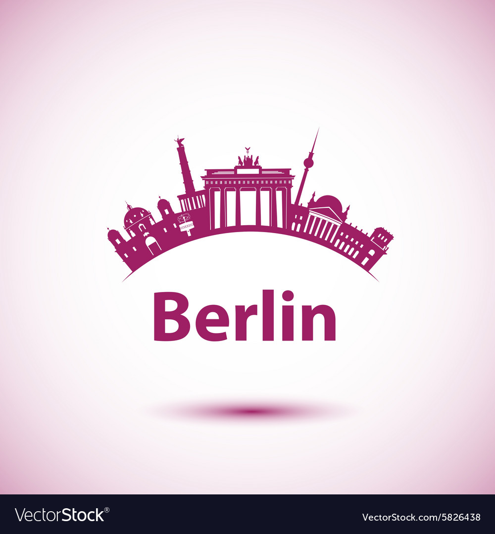 Silhouette of berlin vector