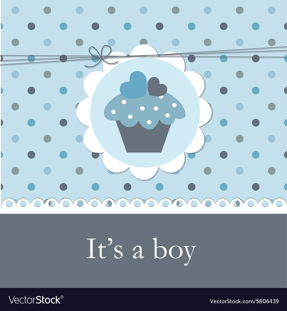 Baby shower with cupcake 2 vector