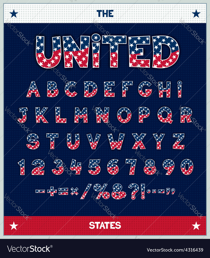 Stylized font design vector