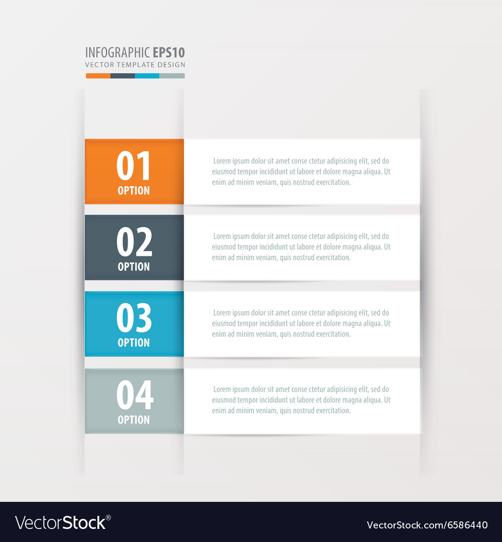 Label template orange blue gray color vector